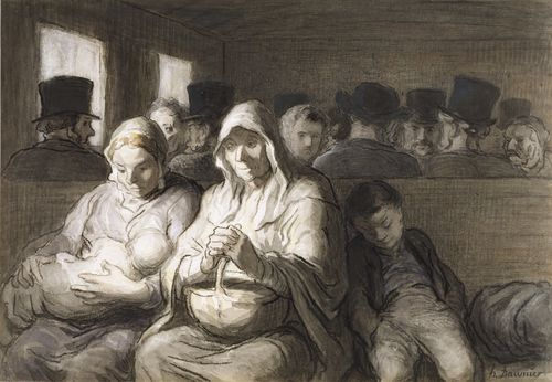 Honoré_Daumier_-_The_Third_Class_Carriage_-_Walters_371226