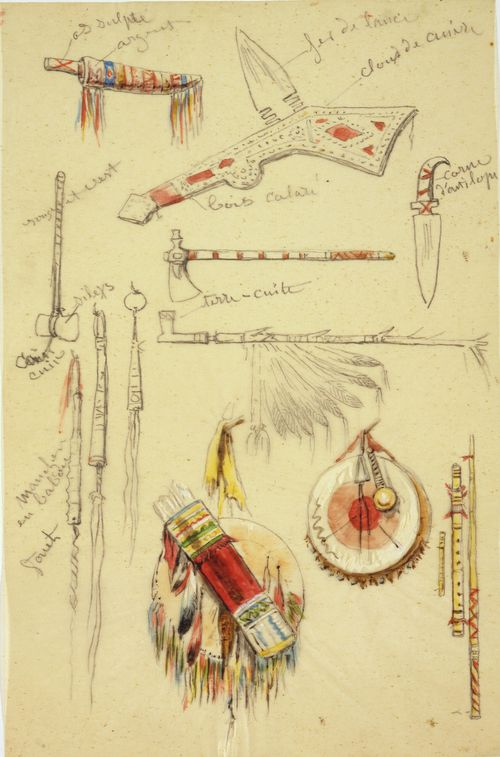 Rosa_Bonheur_-_Indian_Artifacts,_Weapons_and_Pipes